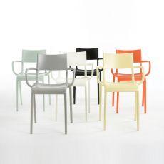 Generic A - Chaise design de Kartell en polypropylène, empilable, idéale à l'extérieur