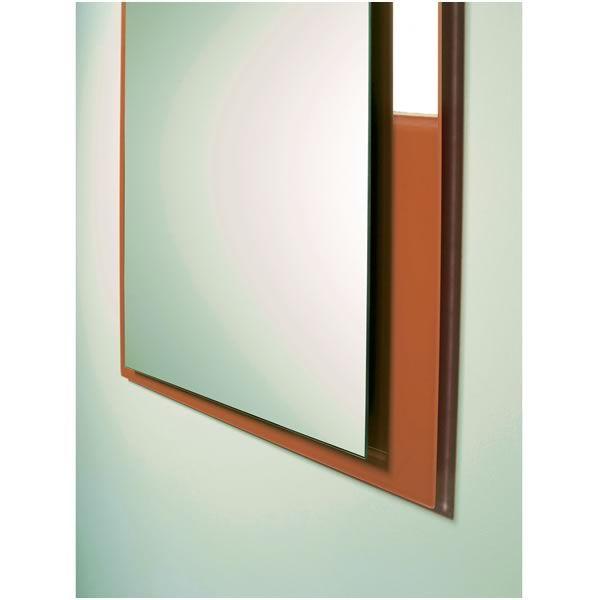 Flexi - Composizione mobile da ingresso con specchio, mobile e mensola in vetro - Sediarreda