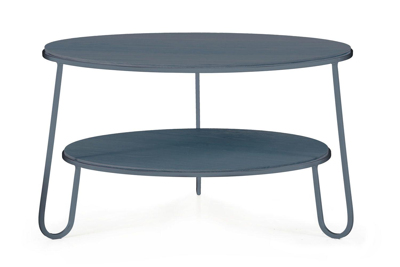 Eugénie Table basse en métal et bois  Sediarreda