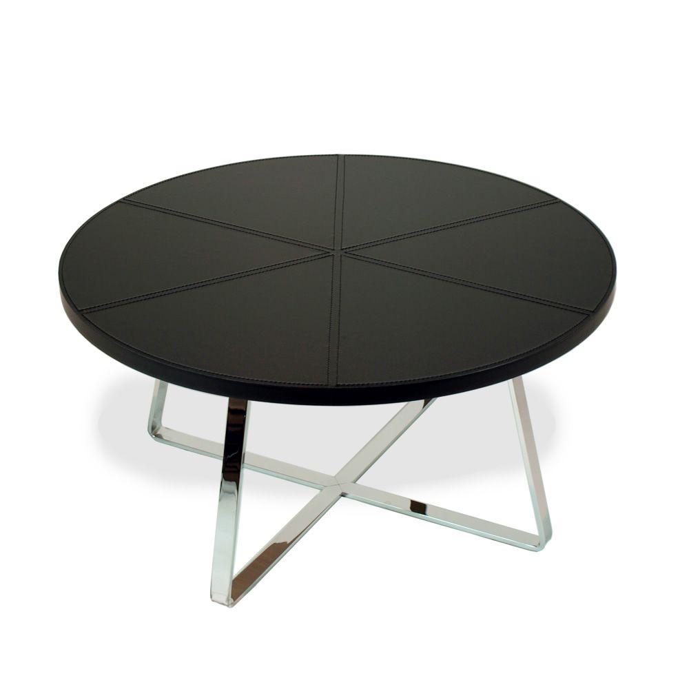 dj table basse midj en m tal plateau ronde en cuir en diff rentes dimensions sediarreda. Black Bedroom Furniture Sets. Home Design Ideas