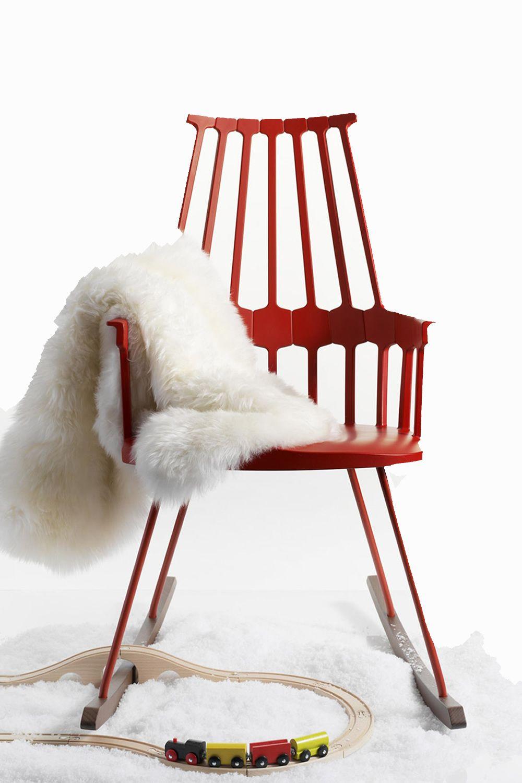 Comback 5956 sedia a dondolo kartell di design in legno for Sedie a dondolo