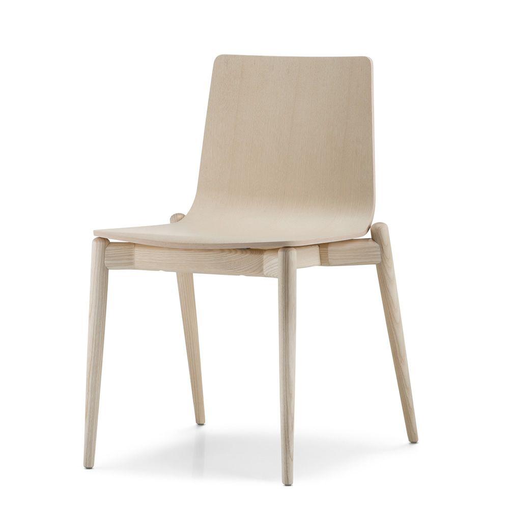 Malm 390 sedia pedrali di design in legno di frassino impilabile sediarreda - Sedia di design ...
