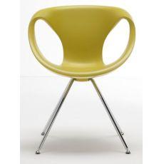 Up Chair - Sedia design di Tonon, in metallo e poliuretano, diversi colori, anche girevole