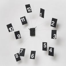 Iltempovola - Wall clock, made of wood and foamed rubber, available in several colours