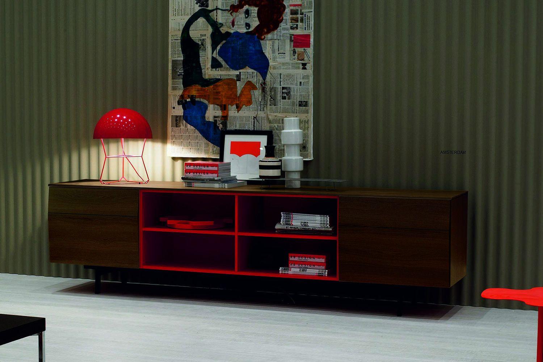 Credenza Moderna Laccata Rossa : Amsterdam madia moderna bontempi casa in legno con ante