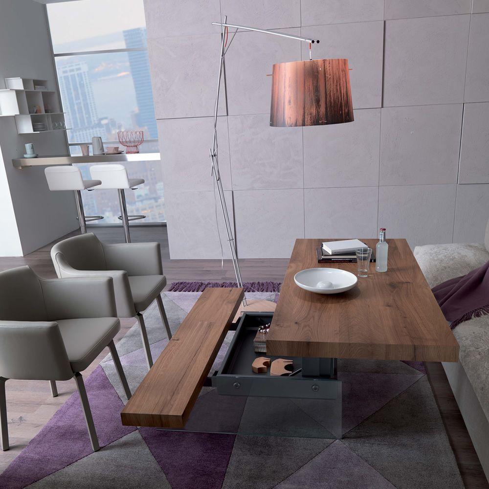 markus petite table transformable et relevable en deux hauteurs en m tal plateau en bois 140. Black Bedroom Furniture Sets. Home Design Ideas