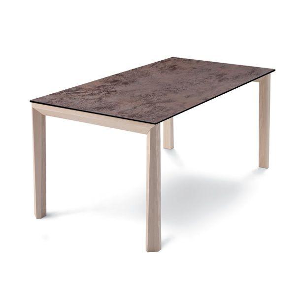universe 130 w table extensible domitalia en bois plateau en verre en vitroc ramique ou en. Black Bedroom Furniture Sets. Home Design Ideas