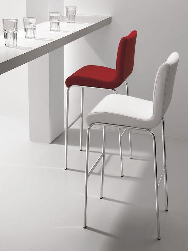 stone h feststehender hocker midj aus metall sitz mit leder kunstleder oder stoff bezogen in. Black Bedroom Furniture Sets. Home Design Ideas