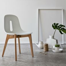 Gotham Wood - Sedia di design Chairs&More, in legno e poliuretano, disponibile in diversi colori