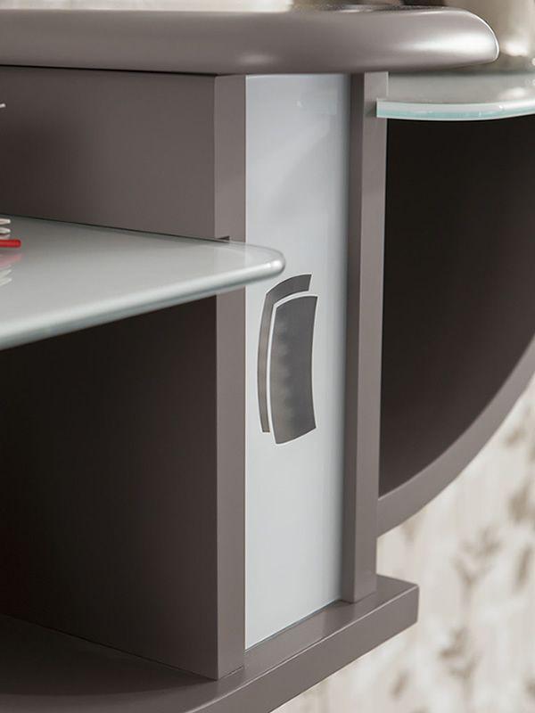 Pa164 meuble entr e avec miroir et crochets disponible en diff rentes couleurs sediarreda - Console en verre la foir fouille ...