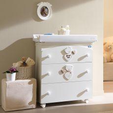Céline Baby F - Table à langer baignoire Pali, avec 3 tiroirs