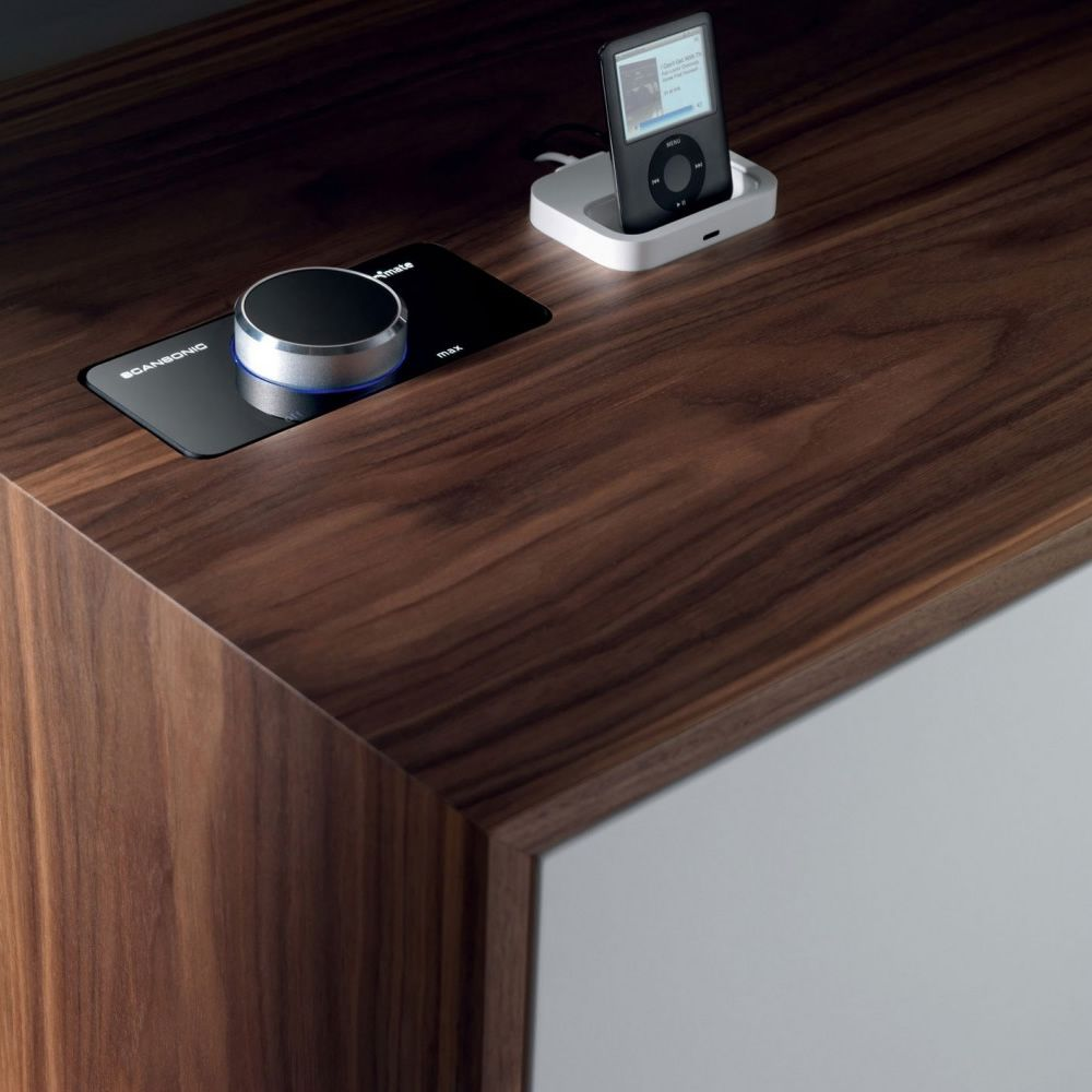 Caixa xl miniforms sideboard in wood with integrated for Sideboard xl