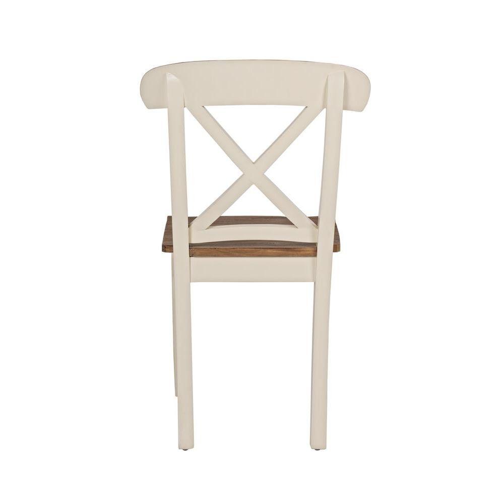 Johannesburg chaise shabby chic en bois indon sien et en for Salle a manger johannesburg