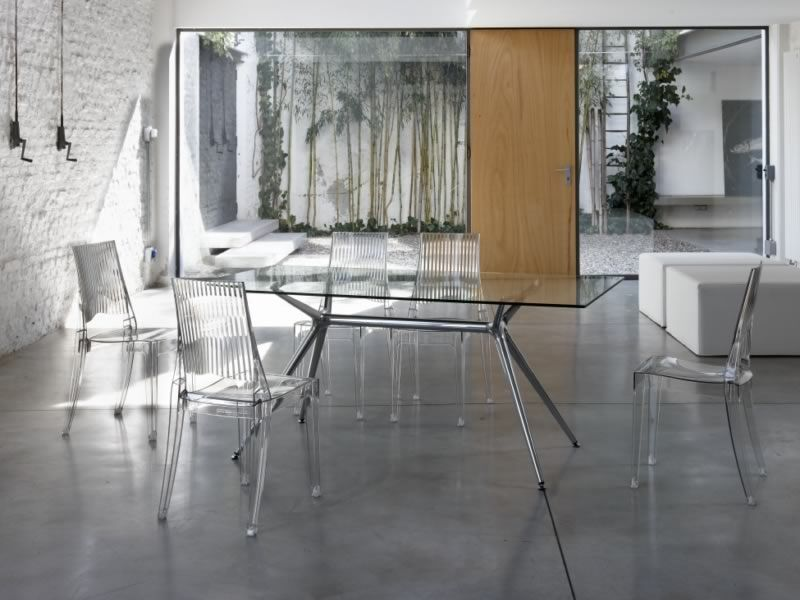 Leder Hochglanz Lackieren : Metropolis 2407 rechteckiger design tisch, glasplatte 180×90 cm