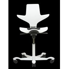 Capisco® Puls White - Office chair by HÅG, with saddle seat