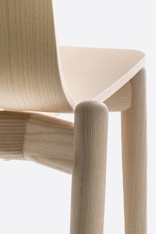 Malm 390 sedia pedrali di design in legno di frassino for Sedia design legno
