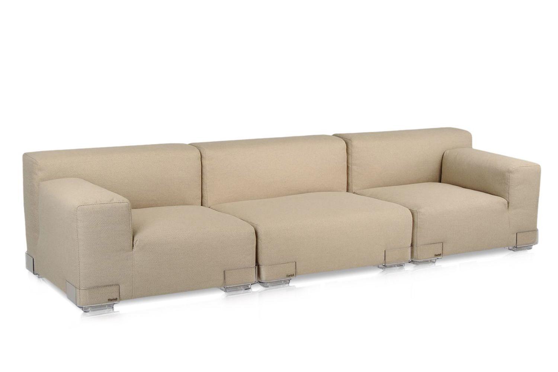 Plastics Duo 3P - Divano di design Kartell, 3 posti, con piedini in ...