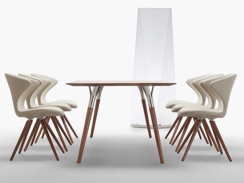 Moderne Stühle concept w designer stuhl tonon aus holz und polyurethan in