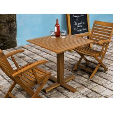 Adige - Wooden table with 70x70 cm squered top, for outdoor