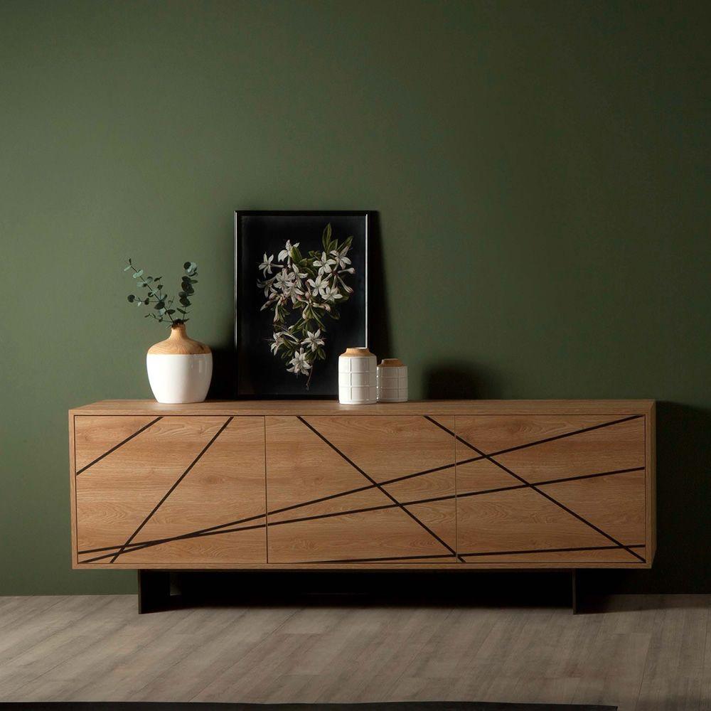 maya 8630 anrichte tonin casa aus metall und holz mit 2 oder 3 t ren sediarreda. Black Bedroom Furniture Sets. Home Design Ideas