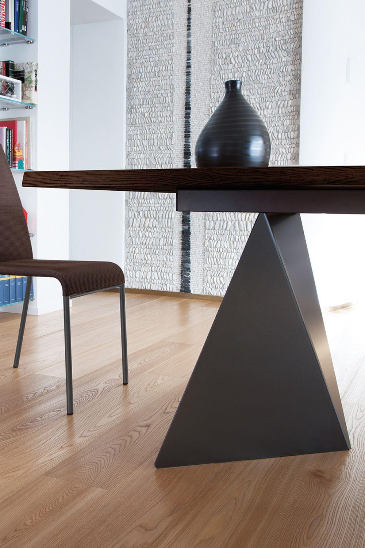 Euclide-F: Feststehender Tisch Domitalia aus Metall ...