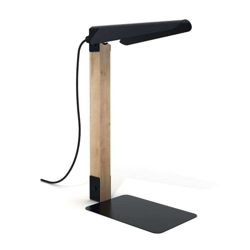 Merlin lampada da tavolo universo positivo in metallo e - Lampada da tavolo legno ...
