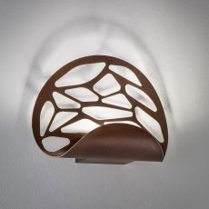 Kelly - Designer wall lamp, in metal, with LED light, available in different colours