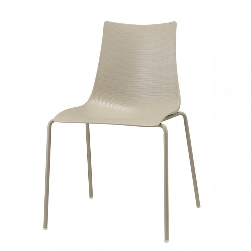 Bella Intrecciata 2695 | Metal chair, dove grey colour