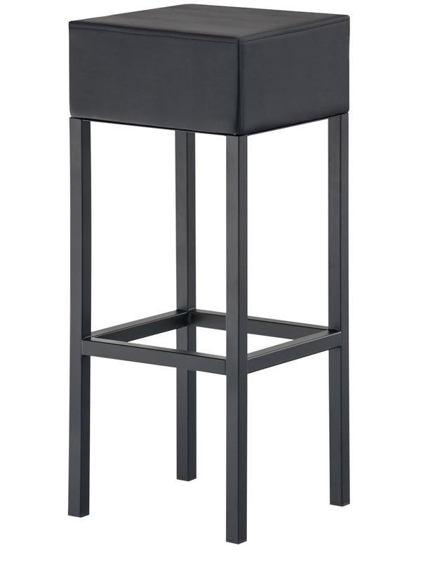 cube 1400v hoher hocker pedrali aus stahl gepolsterte sitzfl che mit kunstlederbezug. Black Bedroom Furniture Sets. Home Design Ideas