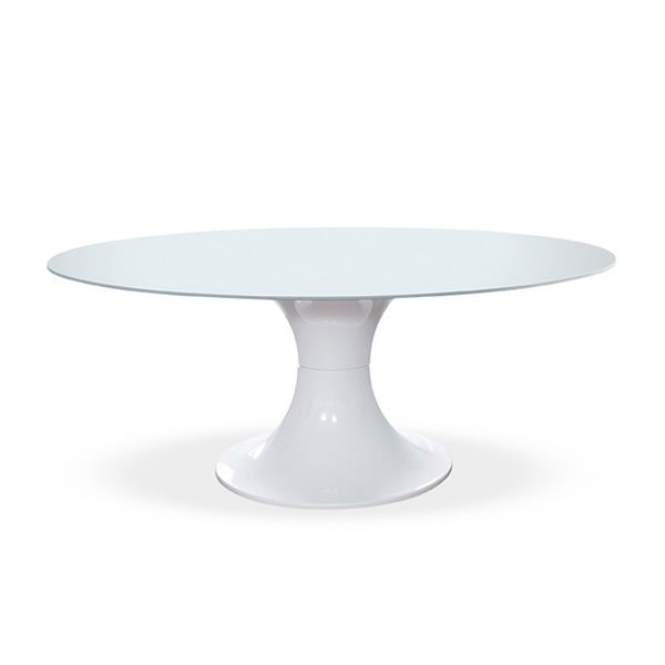 London tavolo fisso midj in policarbonato piano ovale - Tavolo policarbonato ...