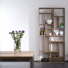 M - Ethnicraft bookcase made of wood, different sizes and finishes available