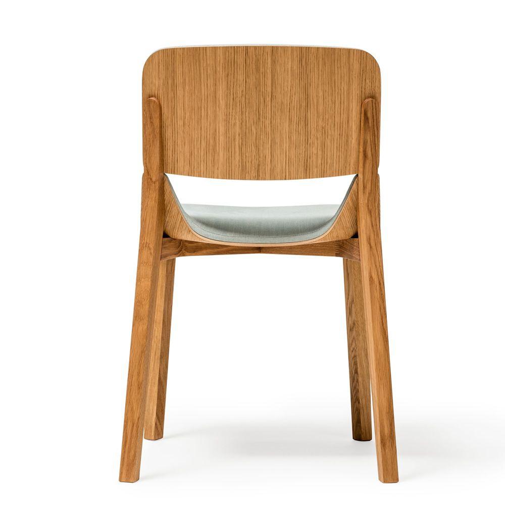 Leaf r sedia ton in legno con seduta imbottita for Sedia design legno