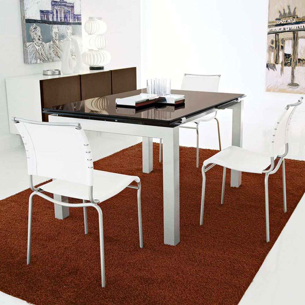 Cs4011 airport calligaris extendable metal table glass for Calligaris outlet on line