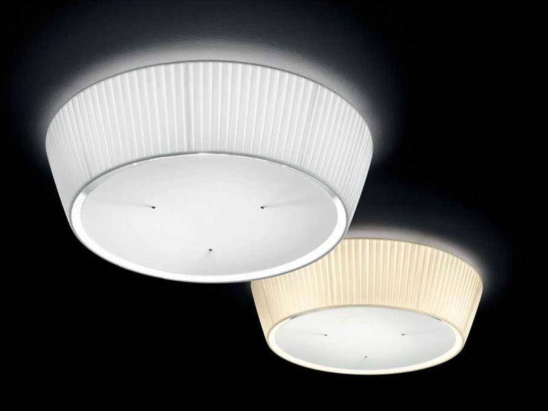 FA2960PS  Lampada da soffitto in tessuto plissettato, in bianco e ...