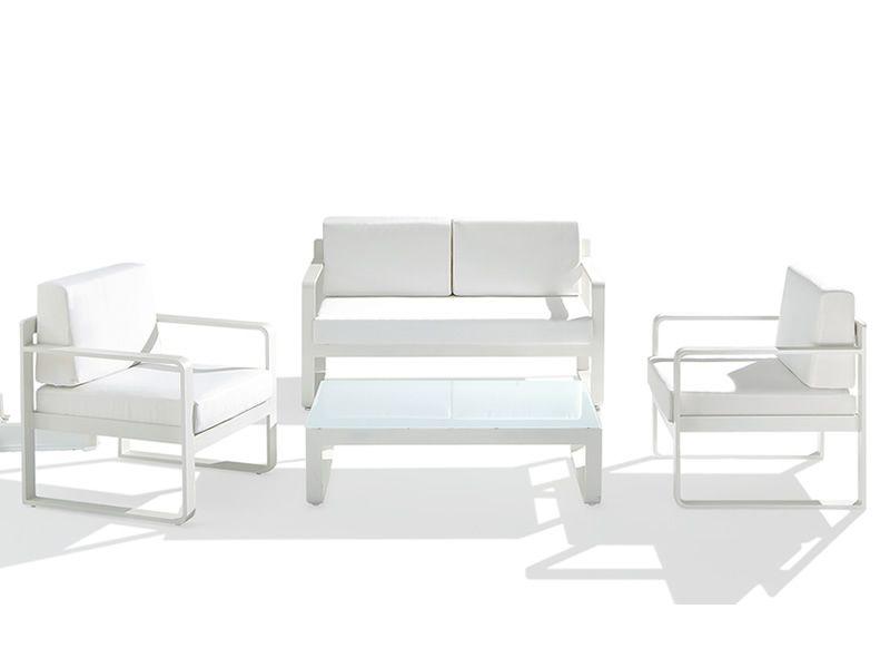 Amalfi set coordinato da giardino in alluminio sediarreda for Poltrone per giardino