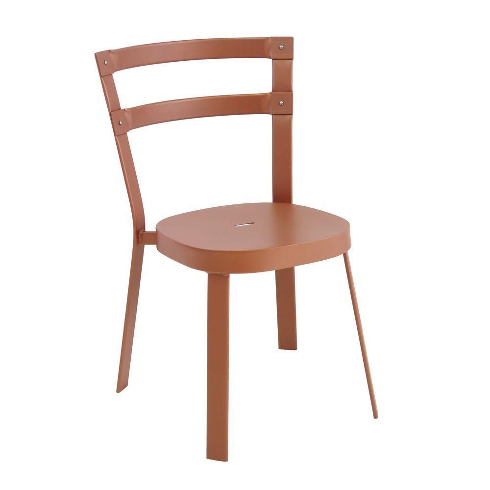 Thor chaise de jardin emu en m tal empilable for Chaise en couleur