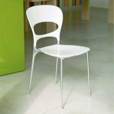 Tonia Off - Sedia Bontempi Casa, in alluminio e nylon, disponibile in diversi colori