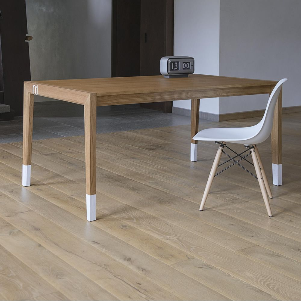 Tavolo 01 table design extensible en bois de ch ne for Table a rallonge