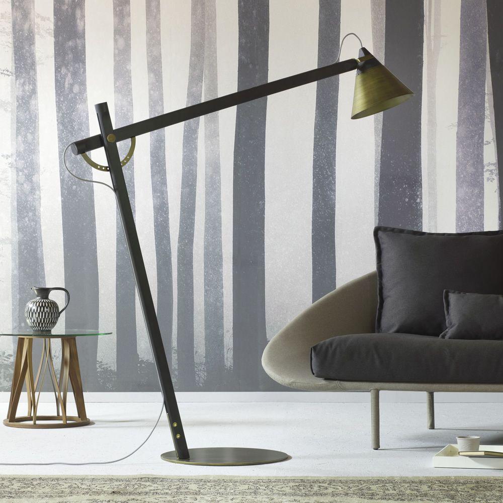 Slope B - Lampada da terra Miniforms, in legno e metallo ...