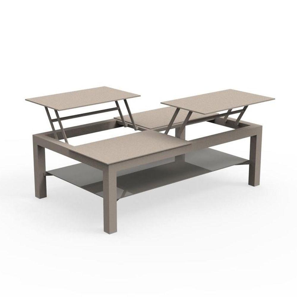 chic t table basse en aluminium pour jardin disponible en diff rentes dimensions. Black Bedroom Furniture Sets. Home Design Ideas