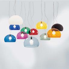FL - Y - Lámpara de suspensión Kartell, en metacrilato transparente, distintos colores