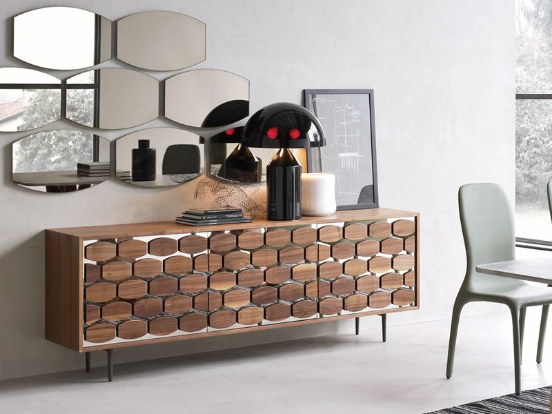 6112 honey madia contenitore di tonin casa in legno a 3 for Madia design