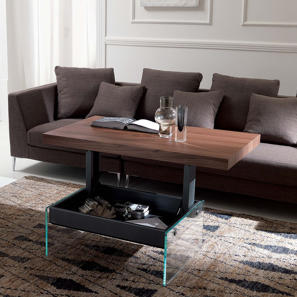 Bellagio two height transformable coffee table in metal - Table transformable but ...