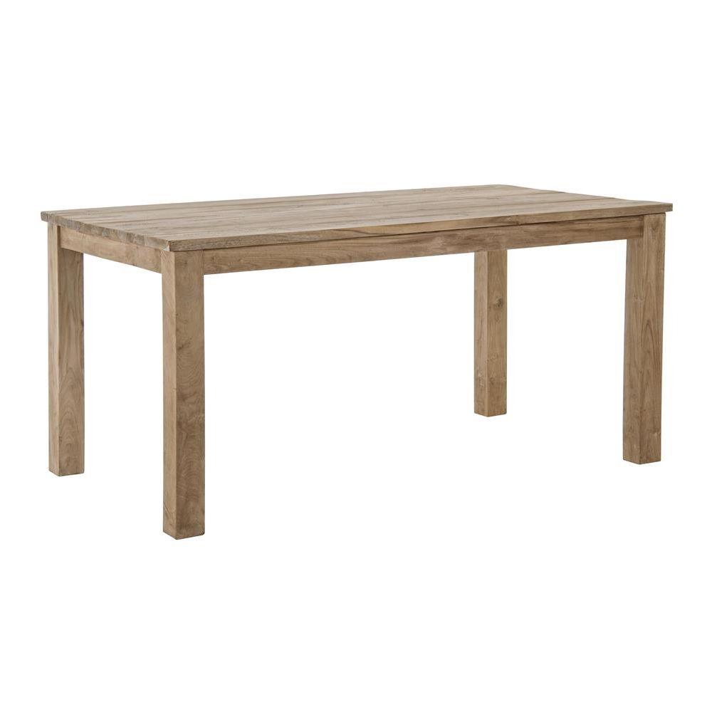 dakar t table en bois de teck avec plateau rectangulaire fixe disponible dans diff rentes. Black Bedroom Furniture Sets. Home Design Ideas