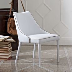 Clara P - Bontempi Casa upholstered armchair, with padded metal frame, available in different finishes