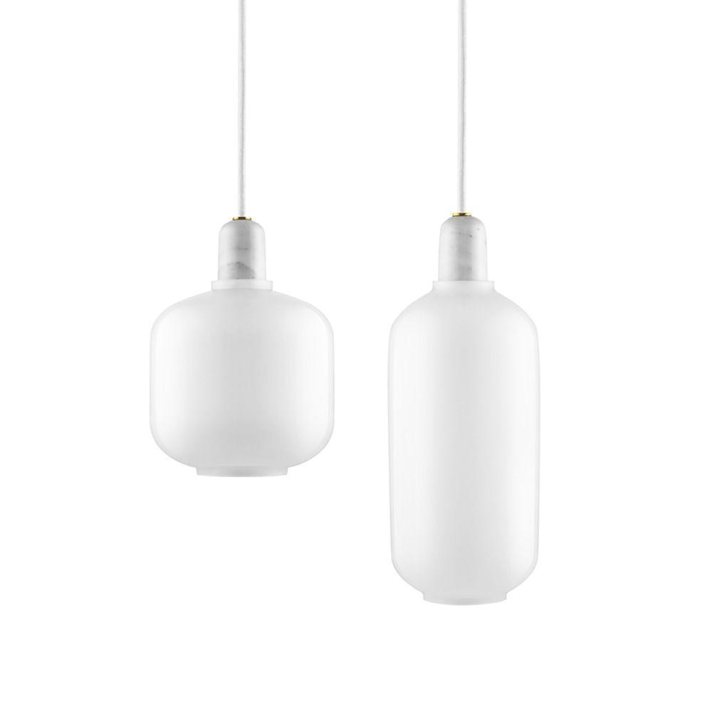 Amp l mpara de suspensi n normann copenhagen de cristal y for Marmol blanco cristal