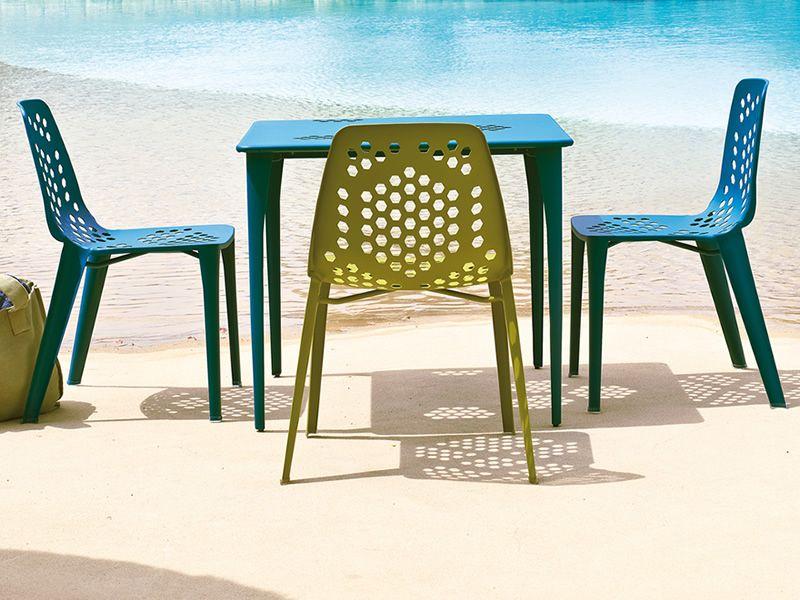 pattern t metalltisch emu f r garten in verschiedene. Black Bedroom Furniture Sets. Home Design Ideas