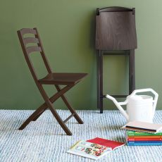 CB1196 Ambra - Connubia - Calligaris folding wooden chair with multilayer seat, different colours available