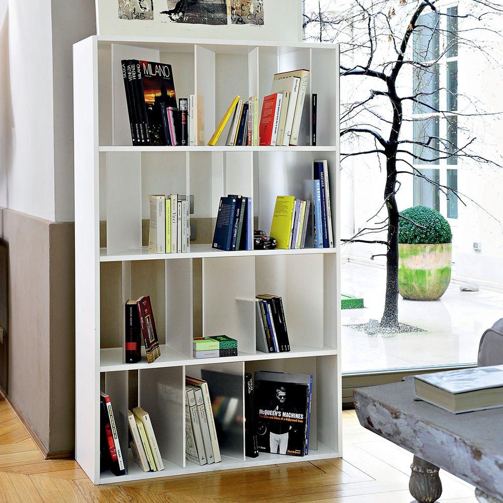 Sundial libreria a scaffali kartell di design 4 ripiani for Scaffali libreria in legno