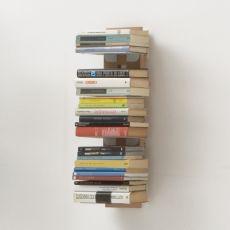 Zia Ortensia S - Libreria di design, fissata a parete, in legno massello, disponibile in diverse dimensioni e colori